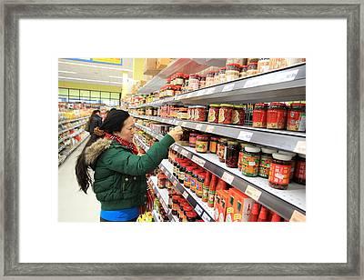 Choosing The Sauce Framed Print by Valentino Visentini