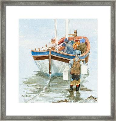 Framed Print featuring the painting Chop Wood Carry Water by Sandy Linden
