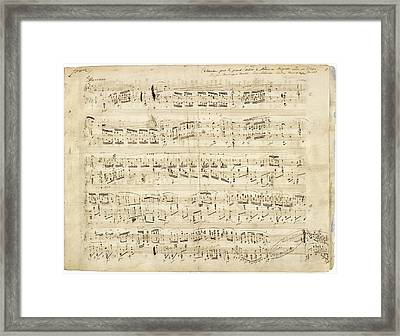 Chopin Polonaise Op 53 Framed Print by Photographic Art by Russel Ray Photos
