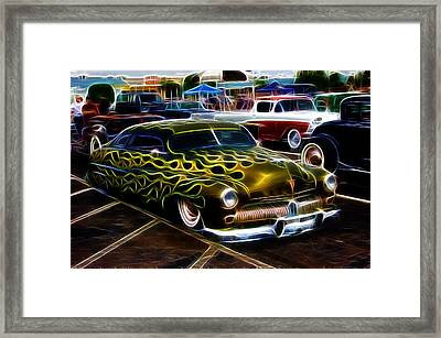 Chopped And Flamed Framed Print by Steve McKinzie
