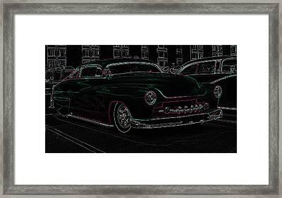Chopped Merc Glow Framed Print by Steve McKinzie