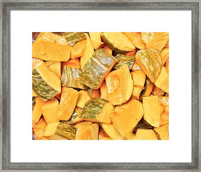 Chopped Squash Framed Print by Tom Gowanlock