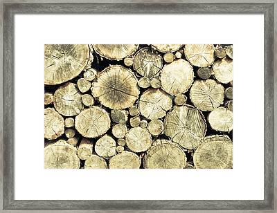 Chopped Wood Framed Print by Tom Gowanlock