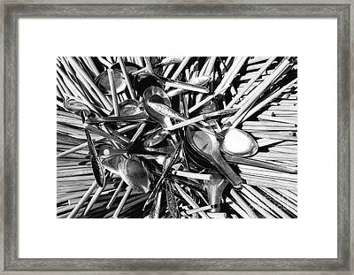 Chopsticks And Spoons Framed Print