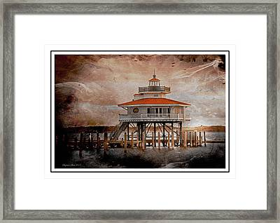 Choptank River Lighthouse Framed Print by Suzanne Stout