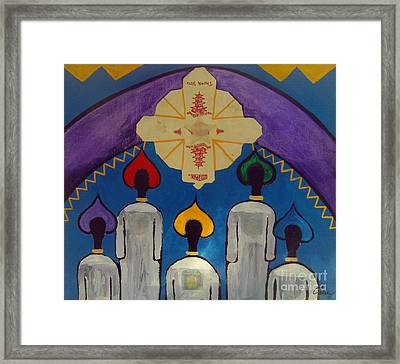 Chorus Au Cirque Framed Print by Feile Case