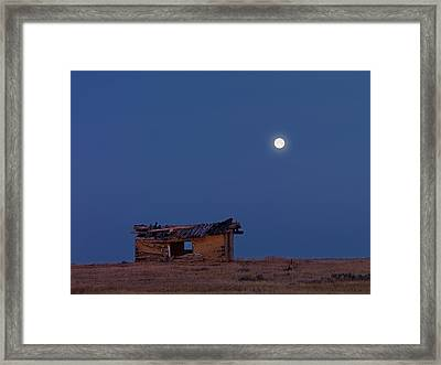 Choteau Cabin Framed Print by Leland D Howard