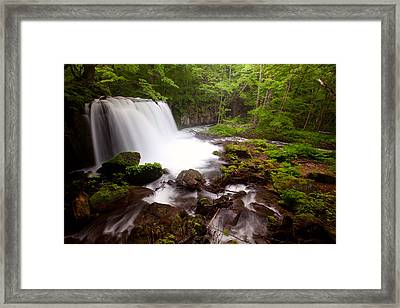 Framed Print featuring the photograph Choushi - Ootaki Waterfall In Summer by Brad Brizek