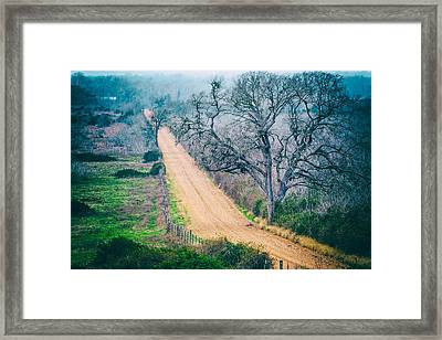 Chovanec Road Take Me Home - Ellinger Texas Framed Print by Silvio Ligutti