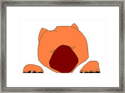 Chow Chow Framed Print by Anita Dale Livaditis