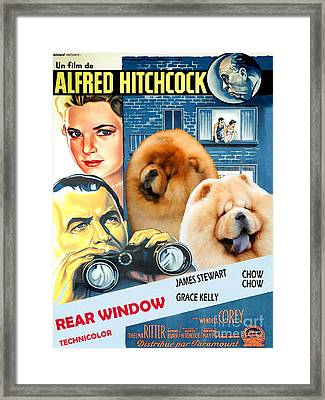 Chow Chow Art Canvas Print - Rear Window Movie Poster Framed Print by Sandra Sij
