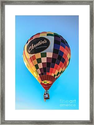 Chretin's Hot Air Balloon Framed Print