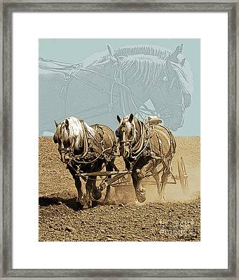 Chris And The Girls Framed Print by Judy Wood