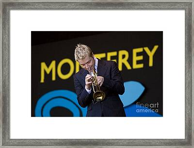 Chris Botti Plays Trumpet Framed Print