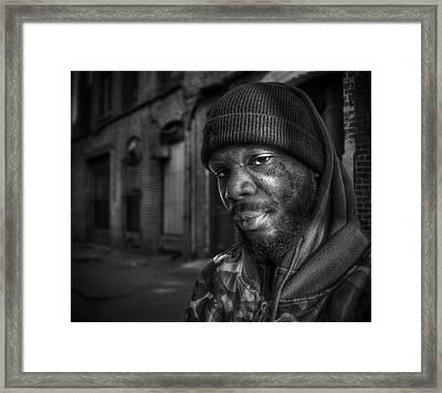 Chris Bw Framed Print