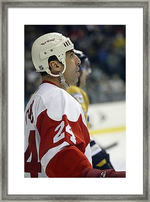 Chris Chelios Framed Print by Don Olea