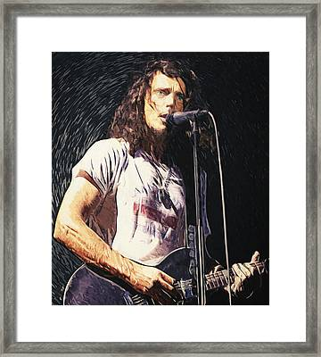 Chris Cornell Framed Print by Taylan Apukovska