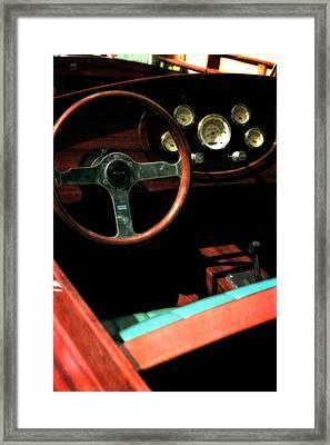 Chris Craft Interior With Gauges Framed Print