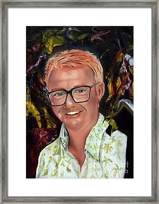 Chris Evans Framed Print by James Lavott