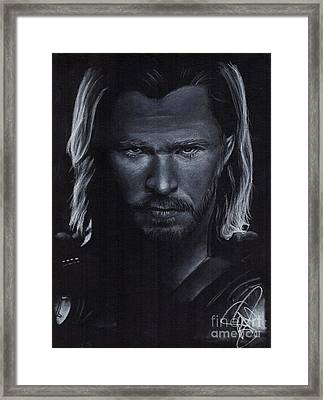 Chris Hemsworth Framed Print by Rosalinda Markle