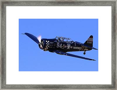 Chris Lefave In His North American Snj-4 Midnight Express At Reno Air Races  Framed Print