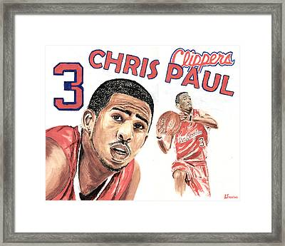 Chris Paul Framed Print by Israel Torres