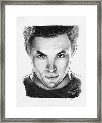 Chris Pine Framed Print