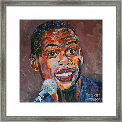 Chris Rock Portrait Framed Print by Robert Yaeger