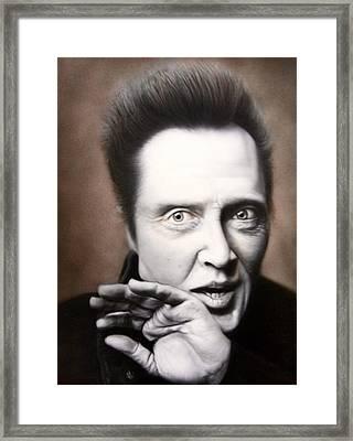 Chris Walken Framed Print by Grant Kosh