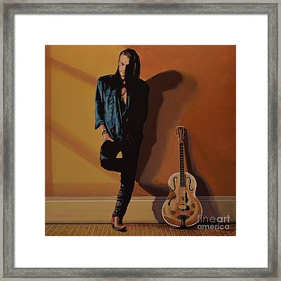 Chris Whitley Framed Print by Paul Meijering
