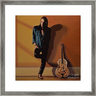 Chris Whitley Framed Print by Paul Meijering