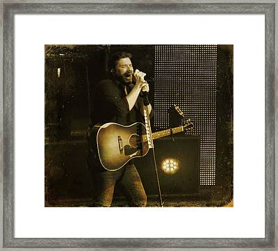 Chris Young Framed Print by Dan Sproul