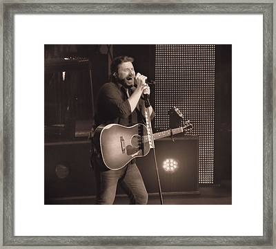 Chris Young On Stage Framed Print