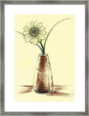 Chrysanthemum Flower Framed Print