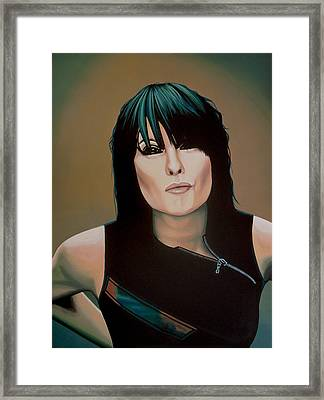 Chrissie Hynde Painting Framed Print by Paul Meijering