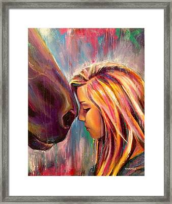 Chrissy And Rusty Framed Print