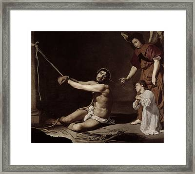 Christ After The Flagellation Contemplated By The Christian Soul Framed Print