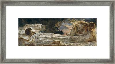 Christ And Mary Magdalene Framed Print by Eugenio Prati