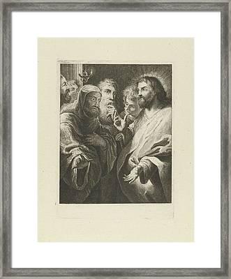 Christ And Nicodemus, Jan Lauwryn Krafft Framed Print by Quint Lox