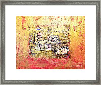 Christ And The Children At The U S Border Framed Print by Richard W Linford