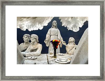 Christ And The Last Supper Northern Virginia 2006 Framed Print by John Hanou