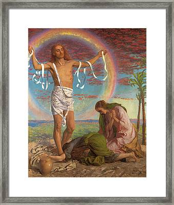 Christ And The Two Marys Framed Print