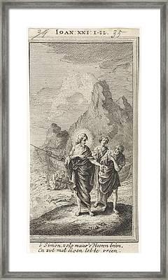 Christ Appears At The Sea Of Galilee, Jan Luyken Framed Print