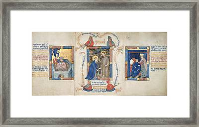 Christ Appears To Magdalene Framed Print by British Library