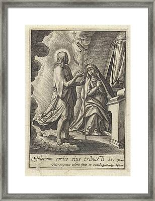 Christ Appears To Mary, Hieronymus Wierix Framed Print by Hieronymus Wierix