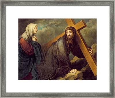 Christ At Calvary Framed Print by Bartolome Esteban Murillo