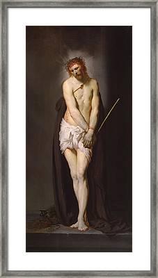 Christ At The Column, 1632 Panel Framed Print by Pieter Fransz. de Grebber