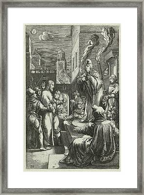 Christ Before Caiaphas, Anonymous Framed Print