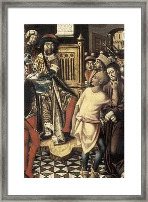 Christ Before Pilate. 1476 - 1500. A Framed Print by Everett