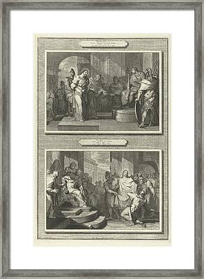 Christ Before Pilate And Herod, Gilliam Van Der Gouwen Framed Print by Artokoloro